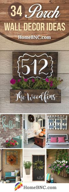 34 beautiful porch wall decor Ideas to make your exterior more inviting Designing your 34 charming p Patio Wall Decor, Outdoor Wall Decorations, Outdoor Metal Wall Decor, Corner Wall Decor, Diy Porch, Metal Tree Wall Art, Wood Wall, House With Porch, Decks And Porches