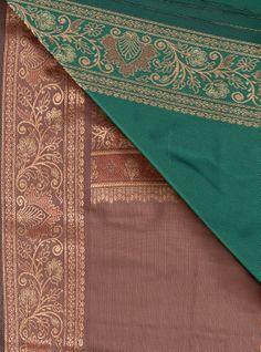BIN 4 Silk sari, Jaipur, 6.20 m x 110 cm, more peacock blue-green than green
