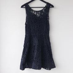 Rehab Black Lace Dress Rehab Black Lace Dress. Several small snags/holes, but fairly unnoticeable. Rehab Dresses