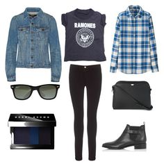 """Blue Bayou"" by andthisisthereasonwhy on Polyvore featuring Uniqlo, AMPLIFIED, Proenza Schouler, Frame Denim, Ray-Ban, The Row, Bobbi Brown Cosmetics and Topshop"
