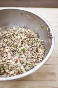 Corn and quinoa salad with toasted pumpkin seeds #healthy #perfectforsummer