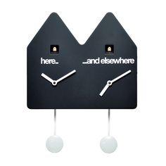 Double Q Wall Clock Black