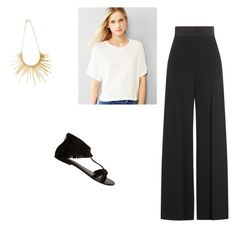 """10.6.15"" by theyoungcontemporary on Polyvore featuring Gap, Sonia Rykiel, Seychelles, Pluma and ootd"