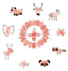 DIY for Kids: Fingerprint Art inspiration for your little ones Projects For Kids, Diy For Kids, Art Projects, Crafts For Kids, Lathe Projects, Fingerprint Crafts, Footprint Crafts, Fun Crafts, Arts And Crafts