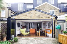 January 2020: Gillian Licari and John Denby doubled their kitchen space to create storage and a new place to relax | Kitchen Extension | Interior Design | Real Homes Loft Conversion Cost, Period Living, Bright Kitchens, Built In Bench, Roof Light, House Extensions, Types Of Houses, House And Home Magazine, Extension Ideas