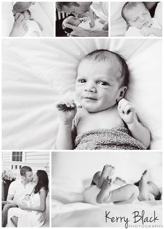collage of lifestyle newborn photography