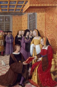 Anne de Bretagne, born 1477 in Nantes, France.  On the death of her father (Duke Francis II of Brittany) in 1488, she inherited the title of Duchess of Brittany and Countess of Montfort.  In 1490 (age 13) she married by proxy Maximilian I of Austria, which conferred upon her the title Queen of the Romans.  In 1491 she was forced to marry Charles VIII, King of France, and her first marriage was annulled. When Charles died, she married his successor, Louis XII.  She died in 1514.