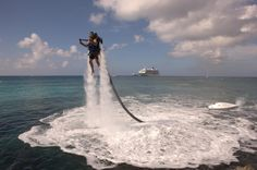 Jetpack Cayman is newest water sports adventure on Grand Cayman! This is the first Jetlev Authorized Flight Center in the Caribbean - and one of the more unique water sports activity in the region.