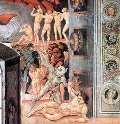 Luca signorelli, cappella di san brizio, separazione delle anime 03 - Cappella di San Brizio - Wikipedia