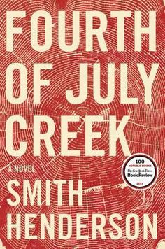 Fourth of July Creek by Smith Henderson: Deep in the emptiness of Montana, a social worker is determined to help a backwoods anarchist and his young son, but personal demons and society's demands conspire to ambush his efforts.  Demonstrating that 'all of life can be understood as casework....a kind of priesthood,' this dramatic novel finds fuel from the lengths we go to protect those we love - Amy Henry, aka Amy Cabernet Quilts.