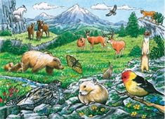 Rocky Mountain Wildlife is a 35 piece tray jigsaw puzzle by Cobble Hill featuring a wide variety of woodland and mountain creatures. Travel Activities, Fun Activities, Fox Pups, Rainbow Resource, Open Season, Animal Habitats, Biomes, Fun Challenges, Puzzles For Kids