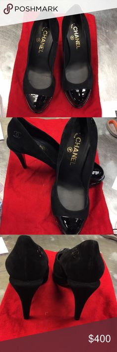 Shop Women's CHANEL Black size Heels at a discounted price at Poshmark. Used but in good condition. Chanel Shoes, Chanel Black, Fashion Tips, Fashion Design, Fashion Trends, Clogs, Super Cute, Shoes Heels, Accessories