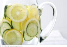 Sassy water! Lemons, cucumber and ginger