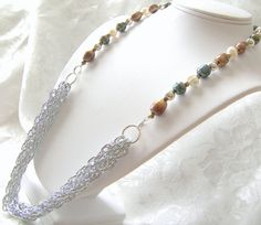 Pearl Chain Statement Necklace by LunaEssence on Etsy