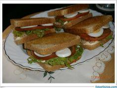 Luzmary y sus recetas caseras: entrantes y aperitivos: SANDWICH DE ATÚN