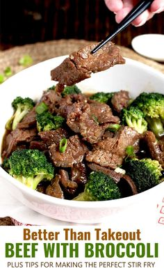 with Broccoli features thin slices of tender beef and crisp fresh broccoli coated in a tasty savory sauce. Make this easy Beef and Broccoli recipe at home in one wok or skillet in less than 20 minutes! Definitely tastier and healthier than takeout! Easy Beef And Broccoli, Slow Cooker Broccoli, Fresh Broccoli, Broccoli Recipes, Steak With Broccoli Recipe, Chinese Broccoli Recipe, Beef Broccoli Stir Fry, Thin Steak Recipes, Thin Sliced Beef