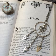 """Ironborn Dreams // A """"Game of Thrones"""" inspired dreamcatcher necklace, complete with silver-toned Greyjoy kraken and dangling spearheads // by The Daydream District"""