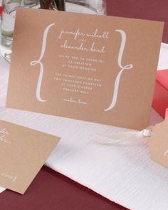 Foil Invitation | Vera Wang Fine Papers | Martha Stewart Weddings