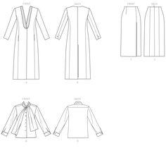 Vogue V1527 | Sewing Pattern | Jacket, blouse & skirt 4-6-8-10-12