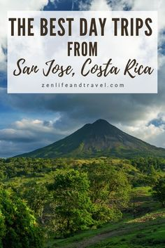 San Jose is a the capital of Costa Rica and a centrally located city that's close to a lot of attractions. Here are 5 great day trips that you can take from San Jose, Costa Rica (many include hotel pick up!) Best Vacation Destinations, Best Vacation Spots, Vacations, San Jose Costa Rica, World 2020, Travel Guides, Travel Tips, Learn To Surf, World Pictures