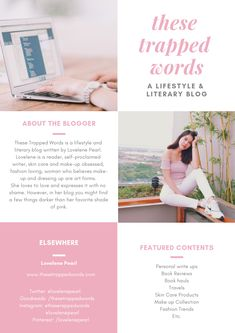Lifestyle and Literary blog. So excited to officially launch my website soon!
