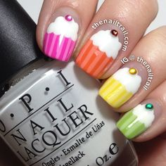Tutorial: Cupcake nail art