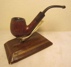 Vintage Whitehall Bent Estate Briar Tobacco Smoking Pipe Italy