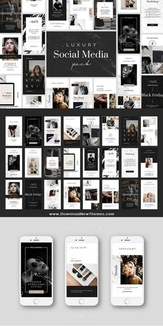 Luxury layouts designed natively for Social Media. Build your business or personal visual identity in highest level! Each of template is easy to edit and Instagram Story Template, Instagram Story Ideas, Instagram Layouts, Instagram Design, Social Media Template, Social Media Design, Identity Design, Visual Identity, Identity Branding