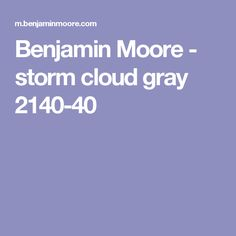 Benjamin Moore - storm cloud gray 2140-40