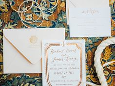 whimsical, nautical real Cleveland wedding | stationery by Shore Society | photo by Kayla Coleman Photography