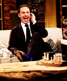 Andrew Lincoln on Talking Dead  3/30/2104  He has a quick sense of humor, and Scott Gimple's very funny too!