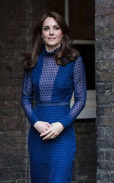 Catherine, Duchess of Cambridge attends a reception at Kensington Palace in London.