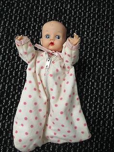 VOGUE GINNETTE DOLL(GINNY&JILLS BABY SISTER) PAINTED EYES 1955-56 W/#711 OUTFIT. I had this doll in the exact outfit