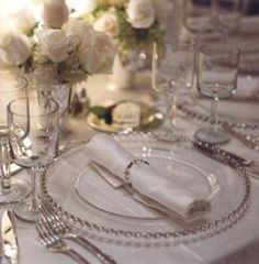white and silver theme wedding _ reception table setup Decorations