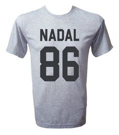 Nadal 86 Shirt Rafael Nadal Tshirt Rafael Nadal Shirt by NoFoolTee