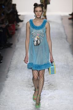 pajamas from the 90's anyone, love this Pepé Le Pew reference / See the complete Jeremy Scott Fall 2017 Ready-to-Wear collection.