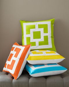 Love the pops of color, but hate the prices. Expensive as all hell. Palm Springs Block Pillow Cover