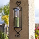 Found it at Wayfair - Classic Iron and Glass Cylinder Wall Sconce
