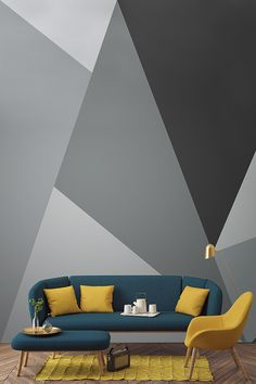 Dazzle your houseguests with these show-stopping geometrics! This geometric wallpaper mural is brimming full of style and sophistication. Perfect for contemporary living spaces!