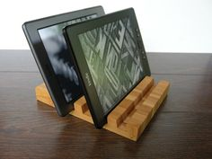 Best solution to keep your devices organized and your desk transparent. You can hold and charge 4 devices at the same time. This Design Bamboo cragring