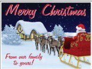 18x24 Merry Christmas From our Family to Yours Lawn Display - Yard Sign Decoration by VictoryStore.com. $12.95. You can use this year after year.  Easy to store, easy to display.. Merry Christmas from our family to yours!. Printed on 2 sides, comes with 2 of our patent pending EZ wires.. 18''x24'' Weatherproof Corrugated Plastic, Printed digitally in full color.  NOT Cardboard!. 18x24 Full Color Christmas Yard Signs. 18x24 Full Color Christmas Yard Signs  Our Christmas yard sig...