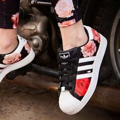 Flower Shoe, Adidas, Lovely, girl, sport