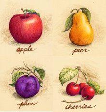 Moda ve Hobi Perisi: Dekupaj Desenleri Eggplant, Fruit, Vegetables, Vintage, The Fruit, Veggies, Eggplants, Vegetable Recipes