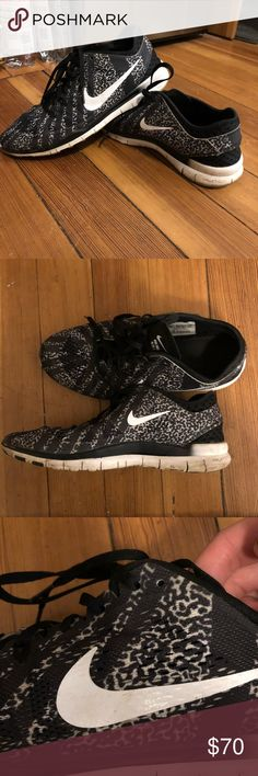 Nike Free Run 5.0 Very new worn twice. Once casually and once on a hike. Very comfortable. Only selling because the print isn't my style. Nike Shoes Sneakers