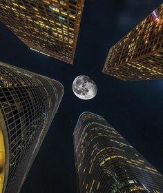 Very cool way at looking at the moon