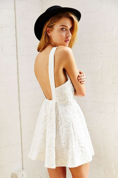 UO - Keepsake Take It All Mini Dress (cream)