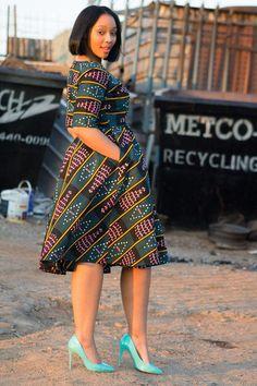 Robe imprimé africain Ankara impression par EssieAfricanPrint