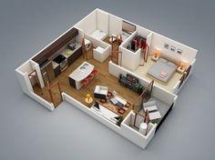2-moderna-1 dormitorio
