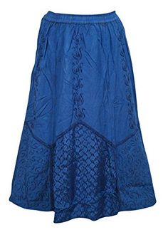 Women's Skirt Dark Blue Embroidered Boho Gypsy Long Skirt... https://www.amazon.com/dp/B01LQ8E2F8/ref=cm_sw_r_pi_dp_x_vzLjyb2Y2DJMW