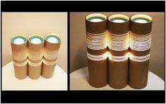 Lamparas de tubos de cartón